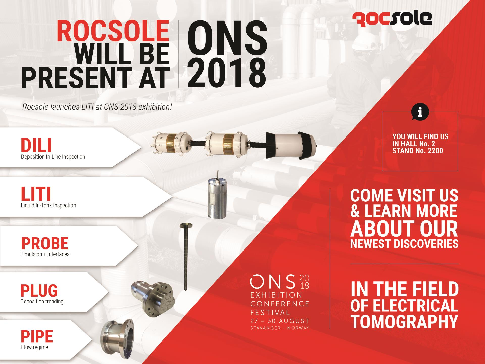 Rocsole Launches Liquid In-Tank Inspection at ONS 2018 Exhibition