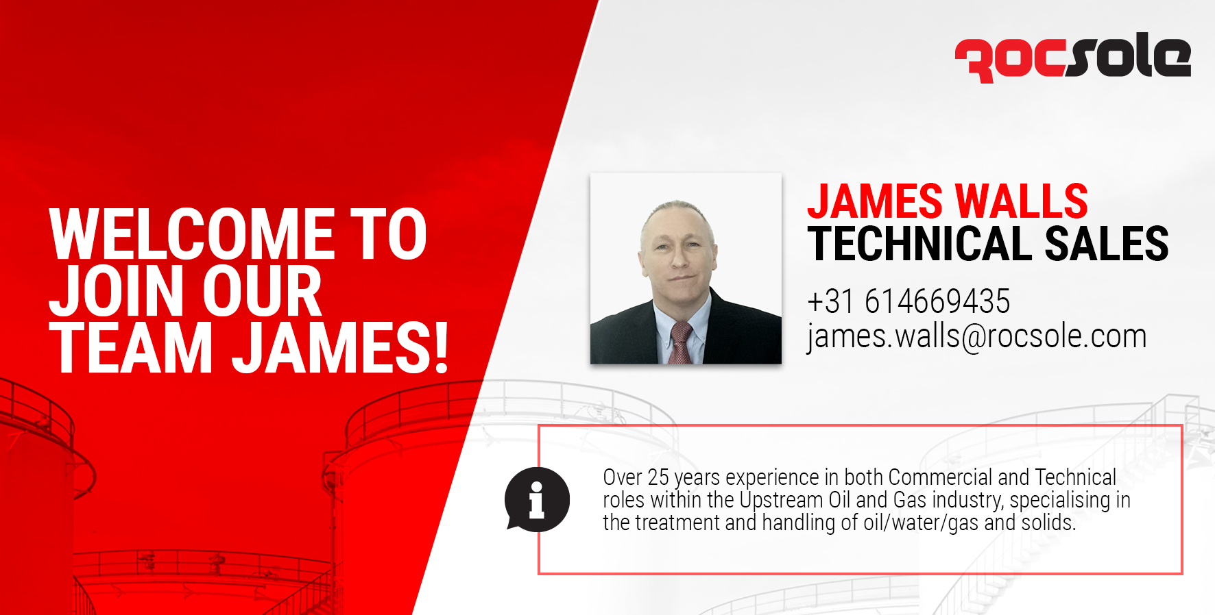 Welcome to Our Team, James!
